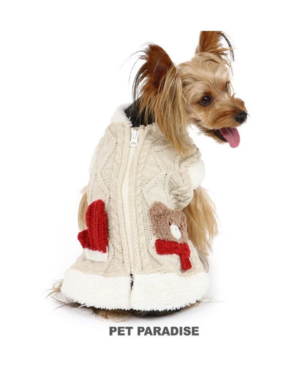 PET PARADISE 犬 服 秋服 ニット ベスト 〔小型犬〕 背開き くま ミトン 犬服 犬の服 犬 服 ペットウエア ペットウェア ドッグウエア ドッグウェア ベビー 超小型犬 小型犬 白~オフホワイト