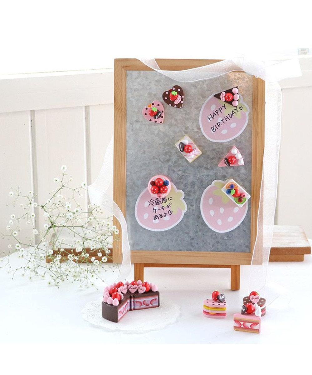 Mother garden マザーガーデン 木製 ミニケーキ ≪フルーツスクエア≫ 単品 木のおままごと ショートケーキ 木のおもちゃ 磁石 マグネット くっつくおもちゃ 目印 マルチカラー