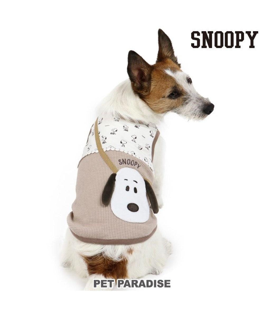 PET PARADISE 犬 服 春夏 スヌーピータンクトップ 〔小型犬〕 ポシェット ドッグウエア ドッグウェア イヌ おしゃれ かわいい ベージュ
