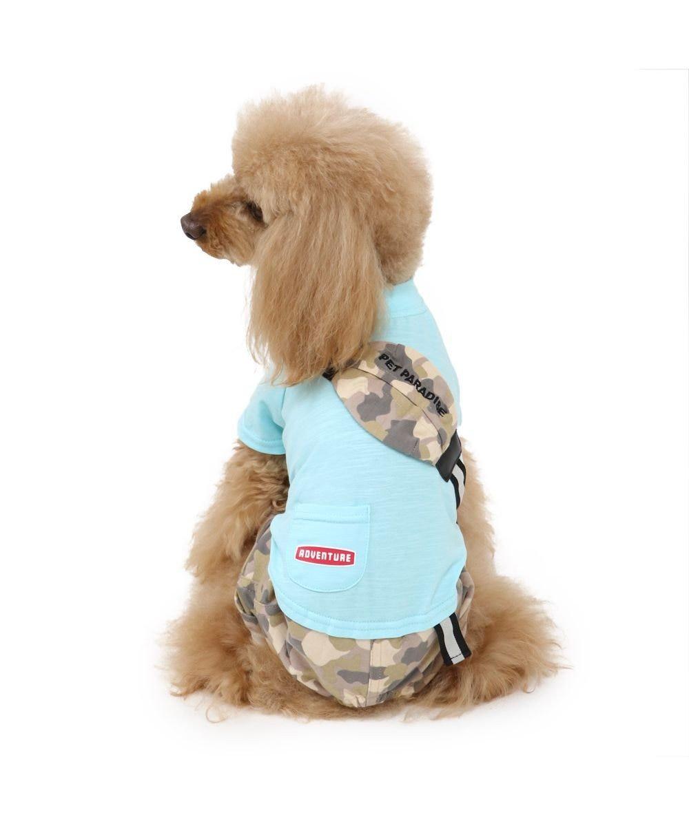 PET PARADISE 犬服 犬 服 ペットパラダイス 迷彩 ポケット パンツつなぎ 〔小型犬〕 超小型犬 小型犬 マルチカラー