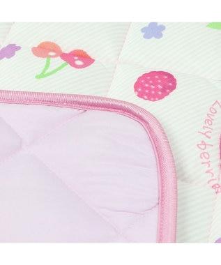 Mother garden マザーガーデン 野いちご クールラグマット 《イチゴ ミックスベリー柄》 150cm×150cmクール ひんやり 夏 夏用 熱中症対策 接触冷感 洗える かわいい マット ピンク(淡)