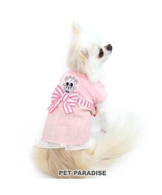PET PARADISE 犬服 犬 服 ペットパラダイス ディズニー ミニーマウス アイレット ワンピース 〔小型犬〕 超小型犬 小型犬 ピンク(淡)
