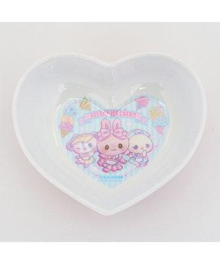 Mother garden マザーガーデン うさもも メラミン食器 ハート皿 《アイス柄》 単品 食洗機可 子供用食器 メラミン製 お皿 プレート キッズ 女の子 かわいい 食器 マルチカラー