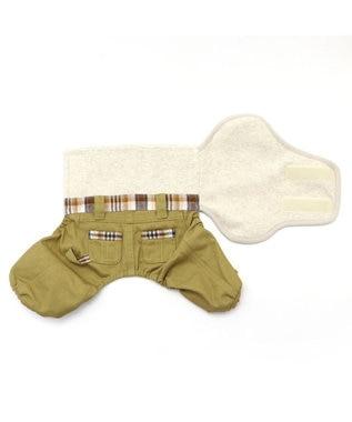 PET PARADISE 犬 服 マナーパンツ【小型犬】 チェック おむつ オムツカバー 抗菌 防臭 カーキ