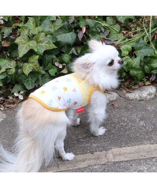 PET PARADISE 犬服 犬 服 ペットパラダイス ディズニー くまのプーさん クール 接触冷感 虫よけ 総柄 メッシュ タンクトップ 〔小型犬〕 超小型犬 小型犬 メッシュ ひんやり 夏 涼感 冷却 吸水速乾 クールマックス 白~オフホワイト