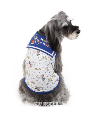PET PARADISE 犬服 犬 服 ペットパラダイス ディズニー ミッキーマウス クール 接触冷感 虫よけ セーラー タンクトップ 〔小型犬〕 超小型犬 小型犬 天竺 ひんやり 夏 涼感 冷却 吸水速乾 クールマックス 青