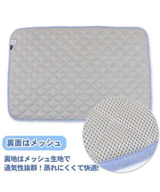 PET PARADISE ペットパラダイス 接触冷感 波柄 柔らか クールマット 大 (90cm×60cm) グレー