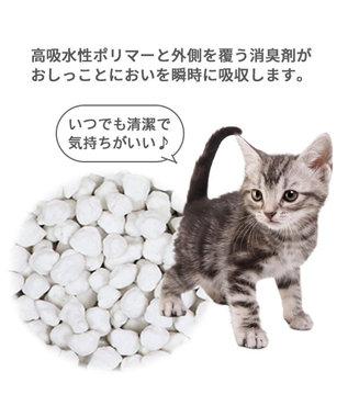 PET PARADISE 猫砂 紙 固まる トイレに流せる 飛び散りにくい ピュアサンド 7L  猫すな ねこ砂 ねこすな ねこちゃん用 紺(ネイビー・インディゴ)