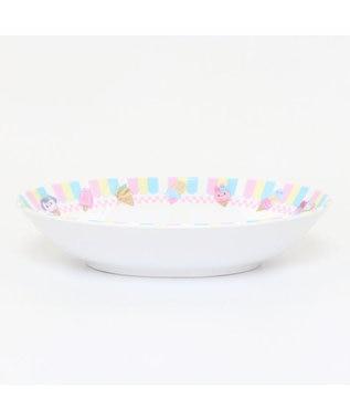 Mother garden マザーガーデン うさもも メラミン食器 カレー皿 《アイス柄》 単品 食洗機可 子供用食器 メラミン製 お皿 キッズ 女の子 かわいい 食器 マルチカラー