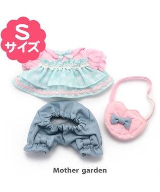 Mother garden マザーガーデン うさももドール プチマスコット Sサイズ 用 着せ替えお洋服  《シフォンビスチェ》 着せ替えごっこ お洋服 女の子のおもちゃ 着せ替え服 ぬいぐるみ ぬいどり ぬい撮り 水色