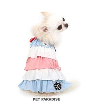 PET PARADISE 犬服 犬 服 ペットパラダイス リサとガスパール クール 接触冷感 虫よけ トリコロール メッシュ ワンピース 〔小型犬〕 超小型犬 小型犬 メッシュ ひんやり 夏 涼感 冷却 吸水速乾 クールマックス マルチカラー