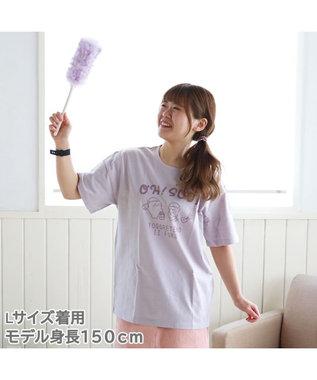 Mother garden しろたん Tシャツ 半袖 《OH! SOJI柄》 紫色 S/M/L/XL レディース メンズ ユニセックス 男女兼用 半袖 あざらし アザラシ かわいい キャラクター マザーガーデン #しろたんTシャツ2021 紫