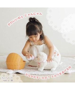 Mother garden  マザーガーデン さわってねこちゃん&バスケット ゆめいろマンチカン / ミルクティースコティッシュフォールド お世話 電子ペット おもちゃ 玩具 ぬいぐるみ お世話遊び ごっこ遊び ミルクティースコティッシュフォールド