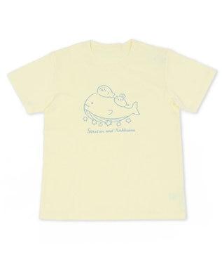 Mother garden しろたん Tシャツ 半袖 《星くじら柄》クリーム色 S/M/L/XL レディース メンズ ユニセックス 男女兼用 半袖 あざらし アザラシ かわいい キャラクター マザーガーデン クリーム色