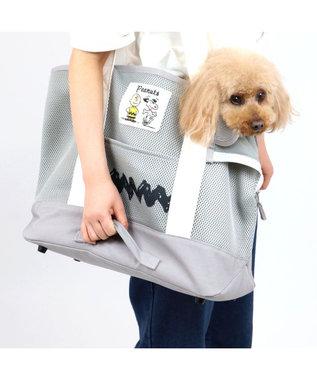 PET PARADISE 犬 キャリー スヌーピー キャリーバッグ 〔小型犬〕 灰 グレー メッシュ トート キャリーバック ショルダー おしゃれ かわいい 猫 キャラクター グレー