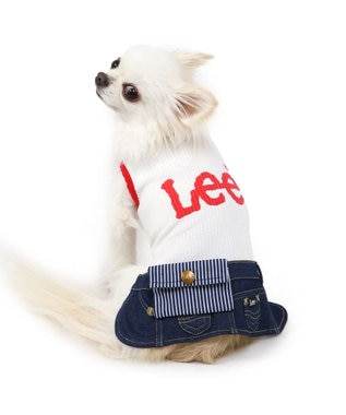 PET PARADISE 犬服 犬 服 ペットパラダイス Lee ウエスポーチ スカートつなぎ 〔小型犬〕 超小型犬 小型犬 白~オフホワイト