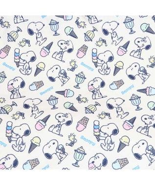 PET PARADISE 犬 春夏 クール 接触冷感 ペット ベッド スヌーピー 筒型 カドラー(55×55cm) アイスクリーム柄 くるっとカドラー 夏 ひんやり 涼感 冷却 クール 洗える 犬 猫 ペットベット ハウス 小型犬 介護 ふわふわ クッション 紺(ネイビー・インディゴ)