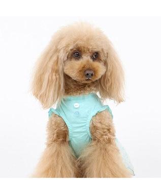 PET PARADISE ペットパラダイス 花柄 ワンピ―ス 水色 〔超小型・小型犬〕 水色
