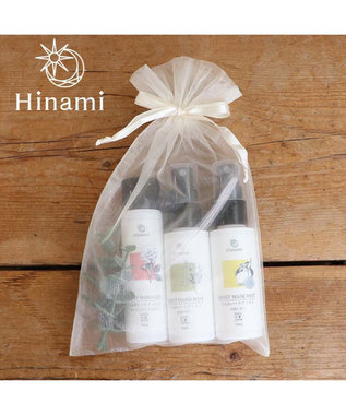 Mother garden 【Hinami】ハンドミスト&ハンドジェル&マスクミスト 巾着入り3本セット 父の日 母の日 プチプレゼント ギフト  プレゼント 白~オフホワイト