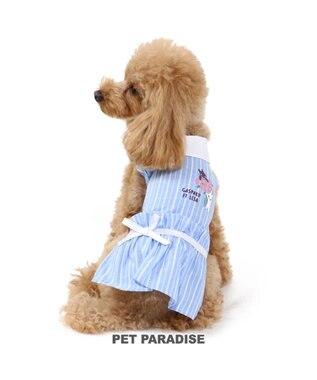 PET PARADISE 犬服 犬 服 ペットパラダイス リサとガスパール ローズ ワンピース 〔小型犬〕 超小型犬 小型犬 水色