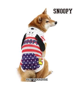 PET PARADISE 犬 服 春夏 スヌーピー パーカー 〔中型犬〕 耳付き メッシュ ドッグウエア ドッグウェア イヌ おしゃれ かわいい 白~オフホワイト