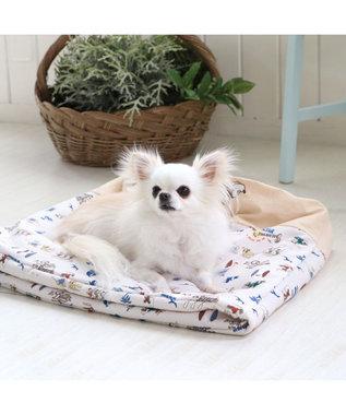 PET PARADISE 犬 春夏 クール 接触冷感 ペット ベッド ディズニー ミッキーマウス 筒型 カドラー(40×45cm) サーフ柄 くるっとカドラー 夏 ひんやり 涼感 冷却 クール 洗える 犬 猫 ペットベット ハウス 小型犬 介護 ふわふわ クッション 水色