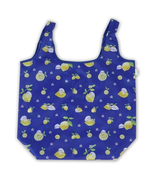 Mother garden しろたん エコバッグ <レモン柄> お買い物バッグ ショッピングバッグ コンパクト 買い物バッグ バッグ キャラクター 軽量 軽い レジ袋 サブバッグ トートバッグ マイバッグ コンビニ マザーガーデン 白~オフホワイト