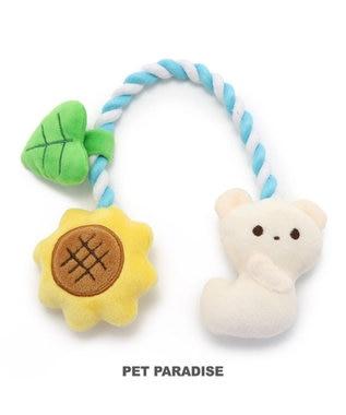 PET PARADISE 犬 トイ TOY ペットパラダイス しろくま ロープトイ 水色