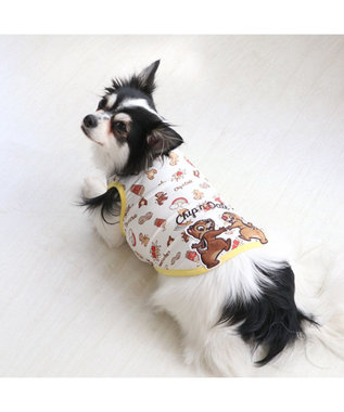 PET PARADISE 犬服 犬 服 ペットパラダイス ディズニー チップとデール ポップクール 接触冷感 虫よけ タンクトップ 〔小型犬〕 超小型犬 小型犬 天竺 ひんやり 夏 涼感 冷却 吸水速乾 クールマックス 黄