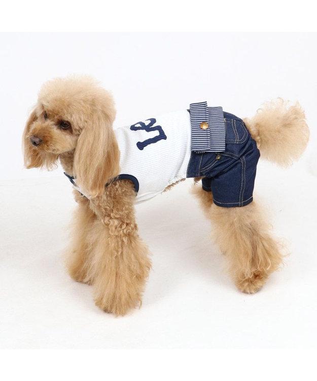 PET PARADISE 犬服 犬 服 ペットパラダイス Lee ウエスポーチ パンツつなぎ 〔小型犬〕 超小型犬 小型犬