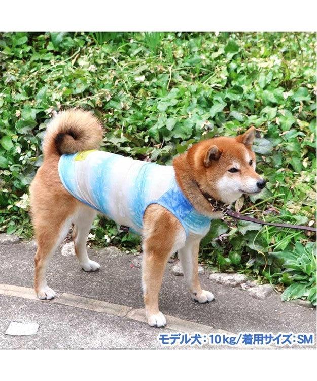 PET PARADISE 犬服 犬 服 ペットパラダイス クール 接触冷感 虫よけ 総柄 メッシュ タンクトップ 〔中・大型犬〕 中型犬 大型犬 メッシュ ひんやり 夏 涼感 冷却 吸水速乾 クールマックス