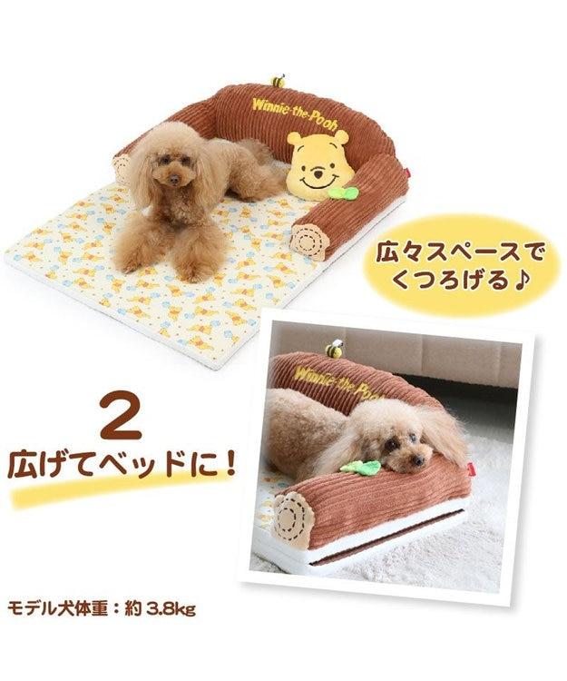 PET PARADISE 犬用品 ペットグッズ ベッド ベット ペットパラダイス ペット ベッド ディズニー くまのプーさん ソファーベッドカドラー (63×40cm) ネット限定 犬 猫 ベッド マット 小型犬 介護 おしゃれ かわいい ふわふわ あごのせ