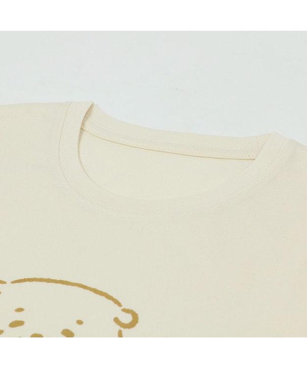 Mother garden しろたん Tシャツ 半袖  《HITOMISHIRI柄》 オフホワイト色 S/M/L/XL レディース メンズ ユニセックス 男女兼用  コットン あざらし かわいい 半袖Tシャツ マザーガーデン ネットショップ限定商品