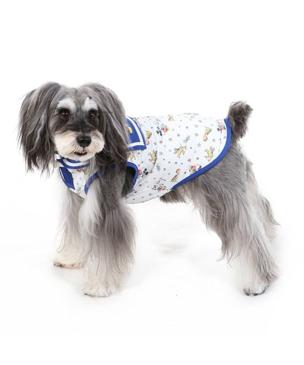 PET PARADISE 犬服 犬 服 ペットパラダイス ディズニー ミッキーマウス クール 接触冷感 虫よけ セーラー タンクトップ 〔小型犬〕 超小型犬 小型犬 天竺 ひんやり 夏 涼感 冷却 吸水速乾 クールマックス