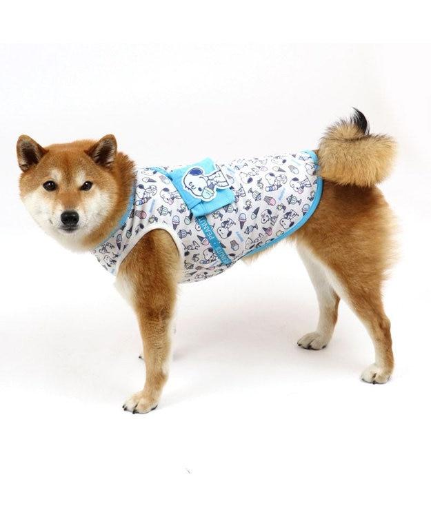 PET PARADISE 犬 服 春夏 保冷剤付き スヌーピー タンクトップ 〔中型犬〕 アイスクリーム ポケットクール ドッグウエア ドッグウェア イヌ おしゃれ かわいい ひんやり 夏 涼感 冷却 吸水速乾
