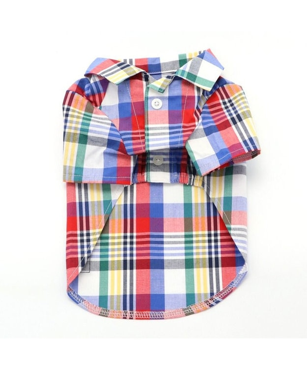 PET PARADISE 犬服 犬 服 ペットパラダイス J.PRESS マドラスチェック シャツ 〔小型犬〕 超小型犬 小型犬