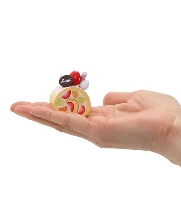 Mother garden マザーガーデン 木製 ミニケーキ ≪ハートのミルフィーユ・チョコ≫ 単品 木のおままごと ショートケーキ 木のおもちゃ 磁石 マグネット くっつくおもちゃ 目印