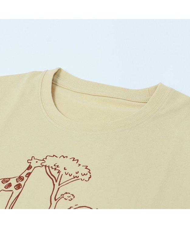 Mother garden  しろたん Tシャツ 半袖  《KANAWAN柄》 ベージュ色 S/M/L/XL レディース メンズ ユニセックス 男女兼用  かわいい キャラクター 半袖Tシャツ マザーガーデン