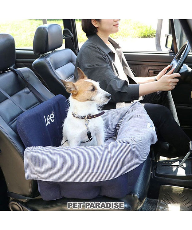 PET PARADISE 犬 猫 ペット ベッド  Lee ドライブ カドラー 【小型犬】 ヒッコリー 犬 ドライブ ボックス ドライブシート ドライブベット ドライブベッド お出掛け 移動 車 おしゃれ かわいい 春 夏 秋 冬