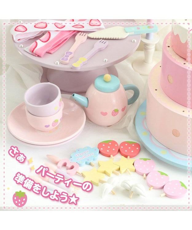 Mother garden マザーガーデンままごと 《ストロベリーケーキ パーティーセット》