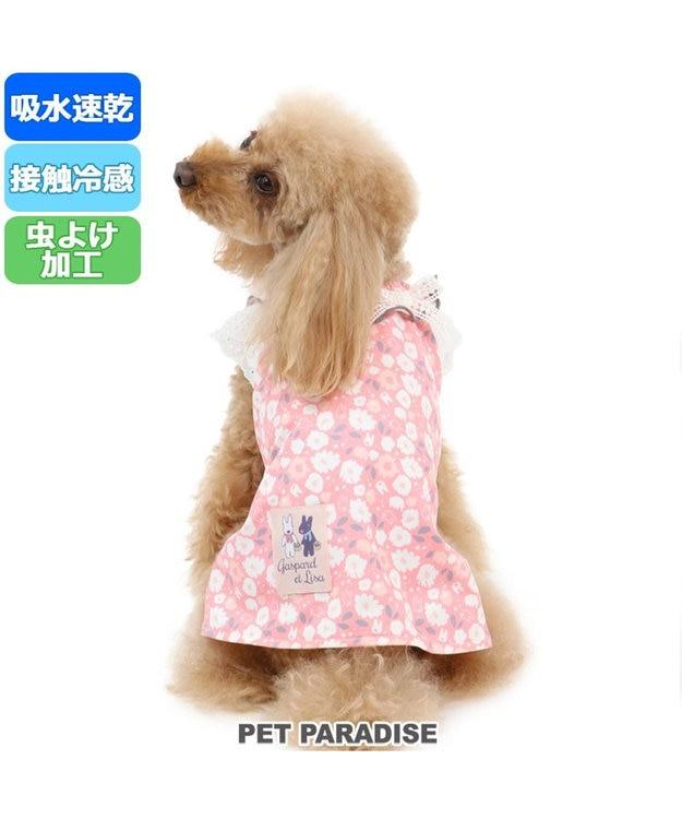 PET PARADISE 犬服 犬 服 ペットパラダイス リサとガスパール クール 接触冷感 虫よけ 花柄 ワンピース 〔小型犬〕 超小型犬 小型犬 天竺 ひんやり 夏 涼感 冷却 吸水速乾 クールマックス