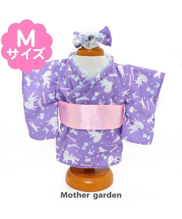 Mother garden  マザーガーデン うさももMサイズ 着せ替え用お洋服 《夢見るユニコーン柄浴衣》 うさもも ドール服 知育玩具 女の子 | おもちゃ 子供 キッズ ぬいぐるみ 用 洋服  ままごと 誕生日プレゼント 服 着せ替え 子ども ぬいどり ぬい撮り ピンク