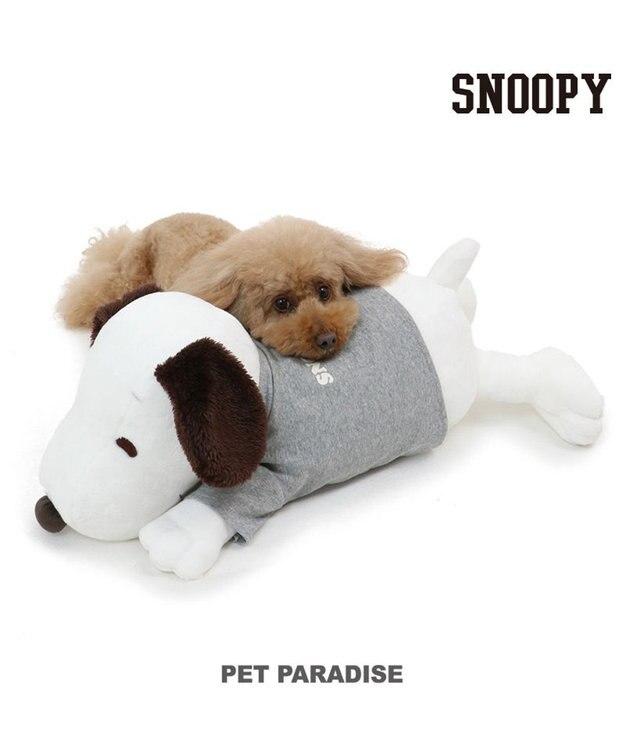 PET PARADISE ペット ベッド スヌーピー 一緒にネンネ枕 (60cm) ネット限定 猫 小型犬 介護 ふわふわ 通年 夏 秋 冬 クッション ソファ カドラー おしゃれ 室内 ドーム キャラクター