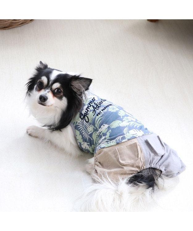 PET PARADISE 犬服 犬 服 ペットパラダイス クール 接触冷感 虫よけ ボタニカル パンツつなぎ 〔小型犬〕 超小型犬 小型犬 ひんやり 夏 涼感 冷却 吸水速乾 クールマックス