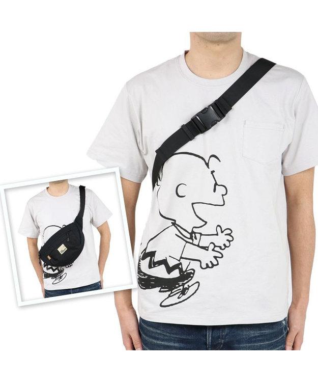 PET PARADISE スヌーピー お揃い ボディバッグ オーナー用 ハッピー   おそろい 黒 ブラック キャラクター