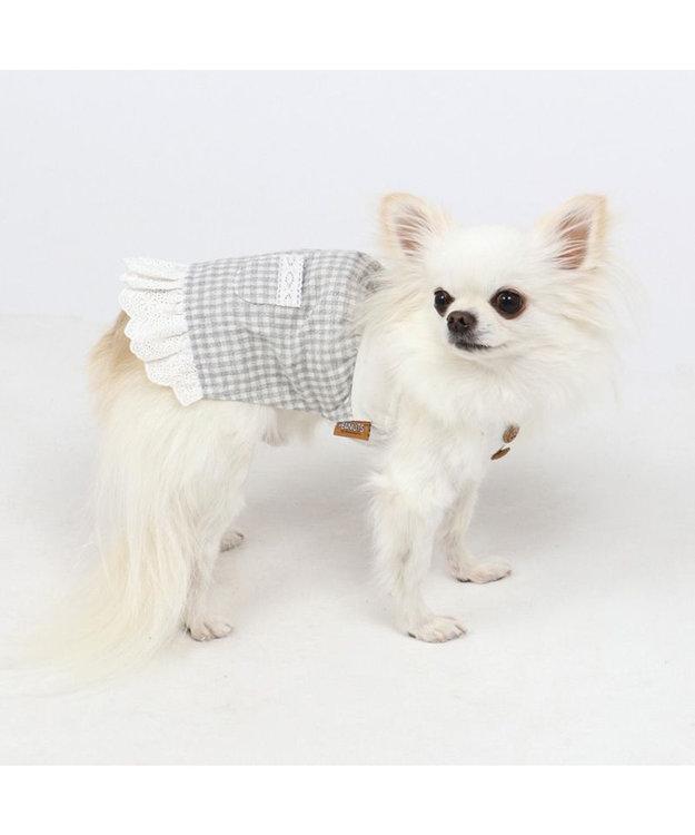 PET PARADISE 犬服 犬 服 ペットパラダイス スヌーピー リネン レース ワンピース 〔小型犬〕 超小型犬 小型犬