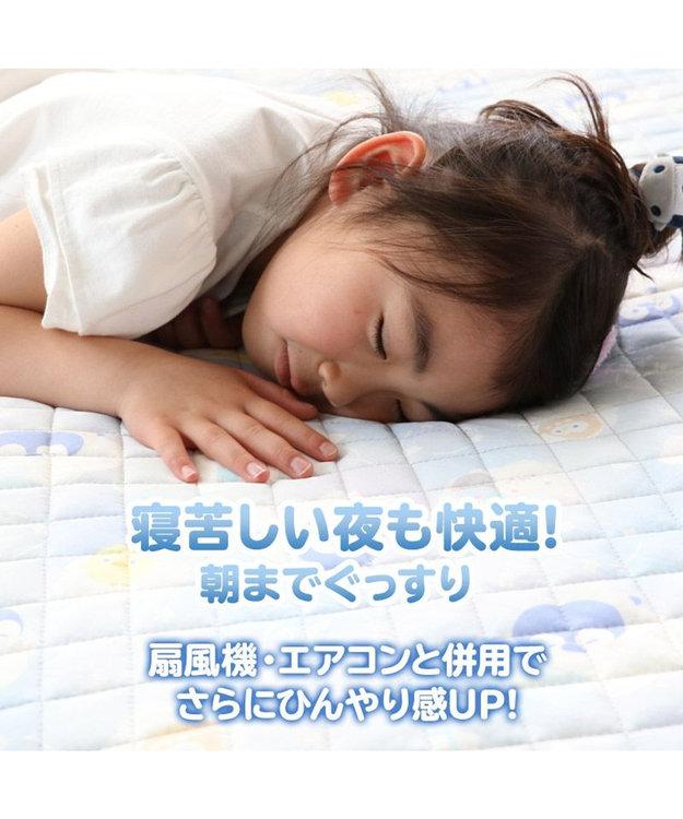 Mother garden マザーガーデン こぴよフレンズ クール シングル 敷きパッド 100cm×200cm クール ひんやり 寝具 快眠 熱中症対策 接触冷感 クール生地 かわいい ひよこ キャラクター