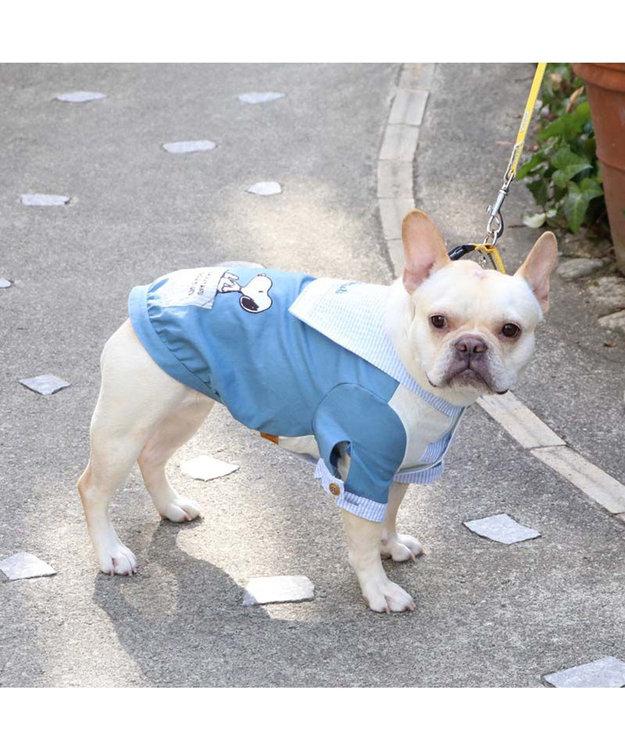 PET PARADISE 犬服 犬 服 ペットパラダイス スヌーピー リネン セーラーシャツ 〔中型犬〕